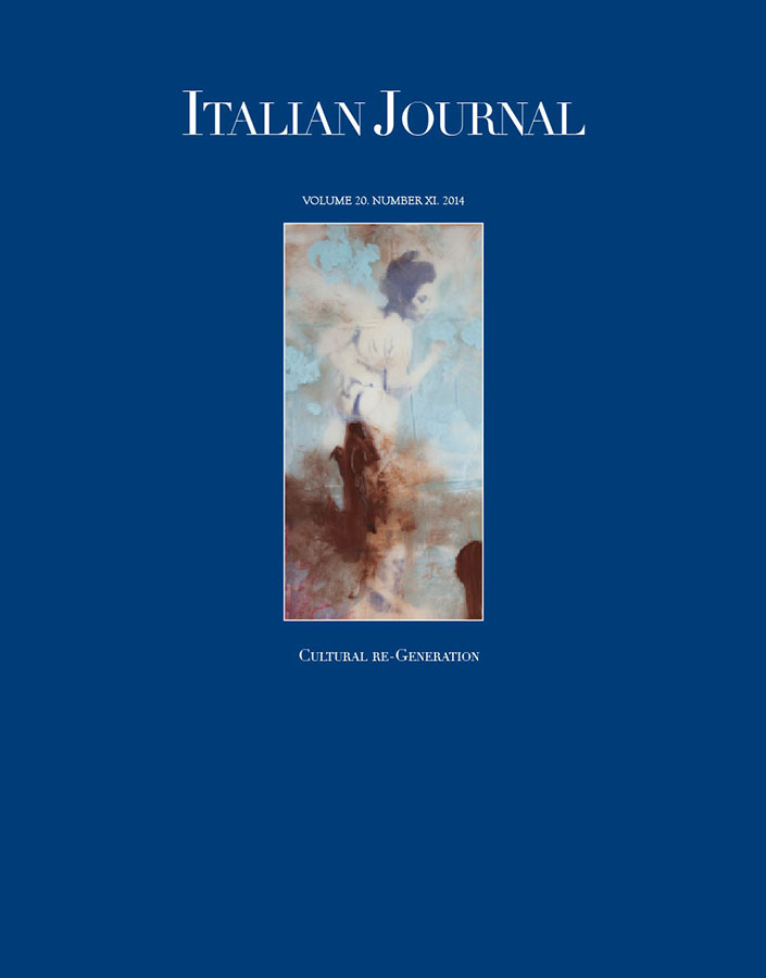 Italian Journal 11: Cultural Re-Generation